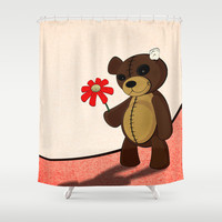 Sweet teddy Shower Curtain by Nicklas Gustafsson