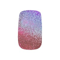 SOUND OF WATER RED BERRY GLITTER NAIL STICKERS