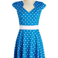 The Story of Citrus Dress in Aqua Dots | Mod Retro Vintage Dresses | ModCloth.com