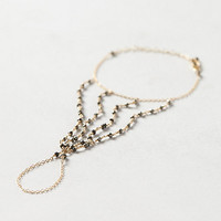 Pyrite Hand Chain by Eriness Black One Size Jewelry