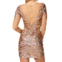 Chantelle-Rose Gold Prom Dress