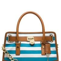 MICHAEL Michael Kors 'Hamilton – East/West' Stripe Satchel | Nordstrom