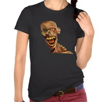 Creepy Zombie Face T-Shirt for Women, Men and Children who really love horror stuff