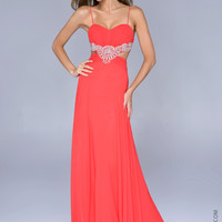 Nina Canacci 6002 -Watermelon Sweetheart Beaded Prom Dresses Online