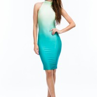Ombré Halter Bodycon Dress