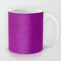 Re-Created SquaresXXXII Mug by Robert S. Lee