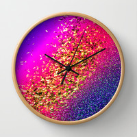Color My Universe Wall Clock by Intrinsic Journeys