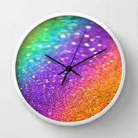 Partytime Rainbow Wall Clock by Intrinsic Journeys
