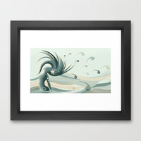 Melissa, wife of the ocean Framed Art Print by LouJah