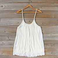 Solarium Lace Tunic in Ivory