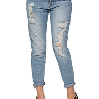 Bullhead Denim Co Boyfriend Jeans - Womens Jeans - Blue - SIZE 9