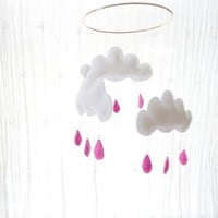 Raspberry RainCloud Mobile for Nursery by leptitpapillon on Etsy