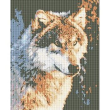 Counted Cross Stitch|Wild Wolf