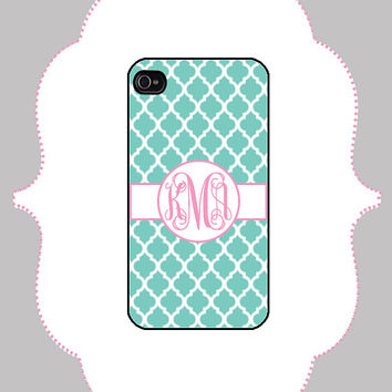 iPhone Case - Quatrefoil Monogram -iPhone 4/4s Case, iPhone 5 Case
