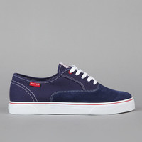 Flatspot - Huf Mateo Canvas / Suede Navy / Red