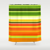 Breakfast juice. Shower Curtain by John Medbury (LAZY J Studios)