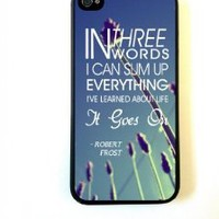 BestElec for iPhone 5 Case Protective for iPhone 5 Case Robert Frost Quote It Goes On