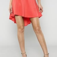 High Low Flare Skirt
