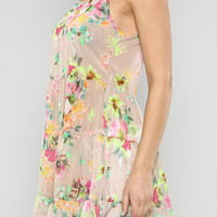 Floral Chiffon Tank/Cover up