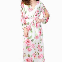 Full Bloom Slit Sleeve Maxi