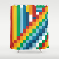Fuzzline #4 Shower Curtain by Project M