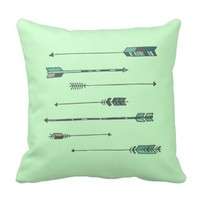 Mint Arrow Pillow