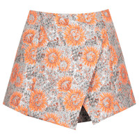 Metallic Sunflower Skort - Multi