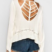 BLU PEPPER Cage Back Womens Crop Top