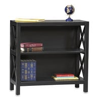 Anna 2-Shelf Bookcase in Black