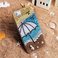 Beach Holiday Blingbling Rhinestone Handmade Case For iPhone 5/5S