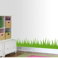 Nursery Wall Decal - Grass room border vinyl decal - Children decal - decal border nursery - grass decal