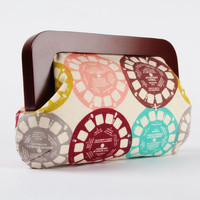 Wooden frame clutch bag - Cocktail purse - Viewfinders in pastel