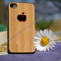 my apple wood Case For iPhone 4/4s, iPhone 5/5S/5C, Samsung S3 i9300, Samsung S4 i9500 *rafidodolcasing*