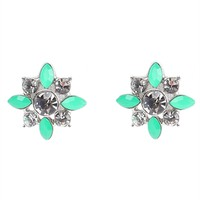 Flower Burst Earring with Neon Stones