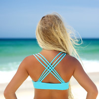 Wipe Out - Criss Cross Top Blue