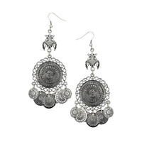 MULTI ENGRAVED DISC EARRINGS