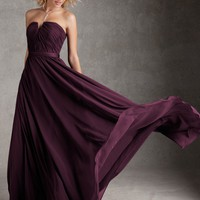 Taffeta Bridesmaid Dress From Angelina Faccenda Bridesmaids By Mori Lee Style 20421 Luxe Chiffon with Satin Waistband