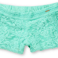 Element Women's Nina Mint Crochet Shorts