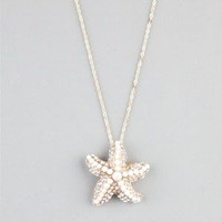 FULL TILT Rhinestone Bead Starfish Necklace