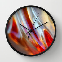 Fire and Ice Wall Clock by Lisa Argyropoulos