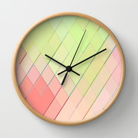 Re-Created Vertices No. 4 Wall Clock by Robert S. Lee