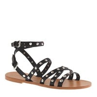 MAREN STUDDED CROSS-STRAP SANDALS
