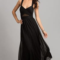 Floor Length Black Formal Dress