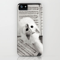 the cat and the music iPhone & iPod Case by Ylenia Pizzetti