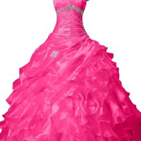 Sunvary 2014 Spring Organza Pleated Quinceanera Dresses Ball Gown for Prom