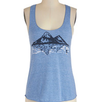 ModCloth Vintage Inspired Mid-length Tank top (2 thick straps) National Parks Pass Top