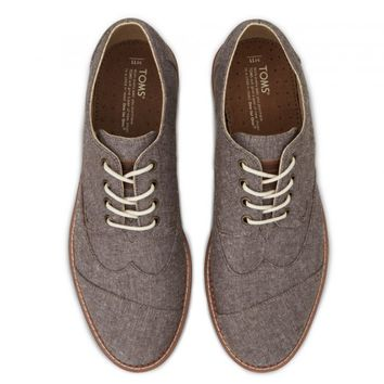 Brown Chambray Men's Brogues