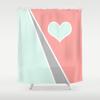 Pastel Love Shower Curtain by Bruce Stanfield