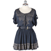 embroidered gardens navy tunic dress - $42.99 : ShopRuche.com, Vintage Inspired Clothing, Affordable Clothes, Eco friendly Fashion