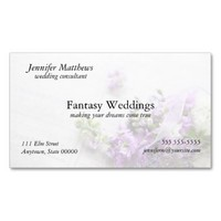 flowers in lavender with music business card